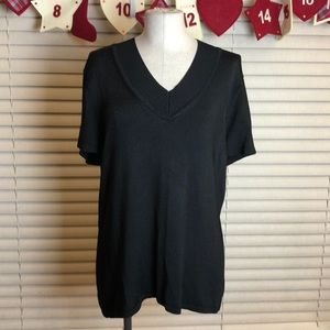 Jones New York | Black Knit top. Size XL